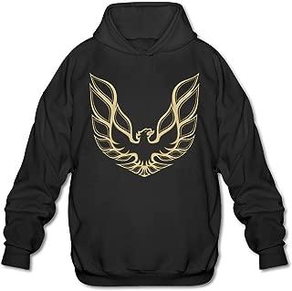 JOYSLI Men's Pontiac Firebird Logo GTA Trans - Am Retro Hoodie Black