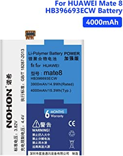 4000MAH Rechargeable Battery HB396693ECW for Huawei Mate 8 NXT-TL00 DL00 Free Tools