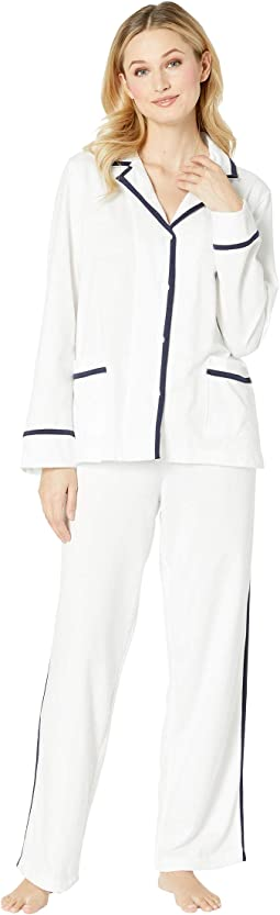 Knit Twill Notch Collar Pajama Set