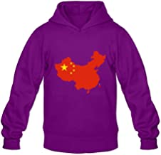 Flag Map Of China Joke Casual Long Sleeve Hoodies For Adult