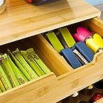 Bakaji-Portacapsule-Contenitore-Doppio-Cassetto-Porta-Cialde-Capsule-Nescpresso-Dolcegusto-Modomio-Caffe-Lavazza-Bustine-Te-Zucchero-realizzato-in-Legno-Bambu-2-Cassetti-Organizer-Bamboo