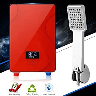 220V Hot Water Heater Tankless Instant Electric thermostat Touch Operation Boiler Bathroom Kitchen with Shower Nozzle 6500W USA STOCK