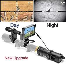 RHYTHMARTS [Upgrade] DIY Digital Night Vision Monoculars for Riflescope with 5inch Screen and IR Flashlight Outdoor Hunting