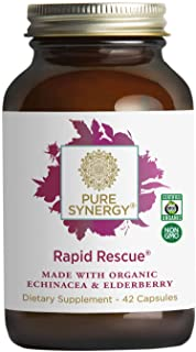 Pure Synergy Rapid Rescue (42 Capsules) w/Organic Echinacea & Elderberry Extracts