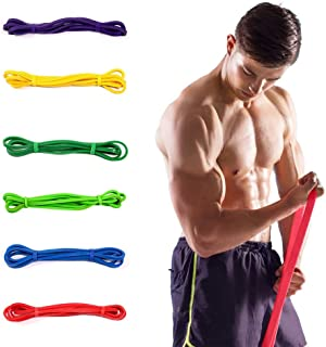Yoga Band Elastic Natural Latex Resistance Band Yoga Fitness Equipment, Circumference: 2.08m, Random Color Delivery Yoga T...