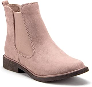 Women's Menswear-Inspired Ankle High Suede Slip On Chelsea Bootie Boots
