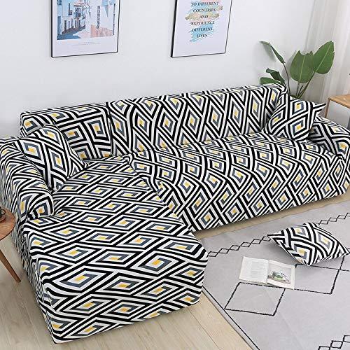 WXQY El sofá en Forma de L Necesita Comprar 2 Piezas de Funda de sofá, Funda de sofá Flexible para Sala de Estar, Funda de sofá de Esquina Flexible A8 de 3 plazas