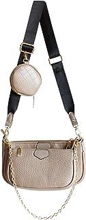 SUVIA Mehrzweck Umhängetasche Damen Crossbody-Taschen Multi-Tasche 3-Teilig Geldbörse Reißverschluss Mode Handtaschen mit ...