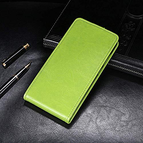QHTTN Flip Premium PU Leder Tasche Hülle Etui TPU Silikon Für TP-LINK Neffos N1 Lederhülle Handyhülle Schutzhülle Handy Schale Etui Magnet Cover Hülle (Grün)