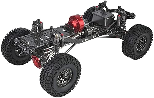 1 10 RC Car Frame, RC Crawler Cars CNC Metall und Carbon Karosserierahmen mit Montagezubeh