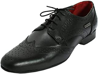 Maplewood Black Genuine Leather Coventry Shoes For Men