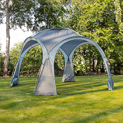 Alfresia Gazebo Event Shelter with 4 Side Panels | 3.5m x 3.5m | Water Resistant and Lightweight | Ideal for Camping and Festivals