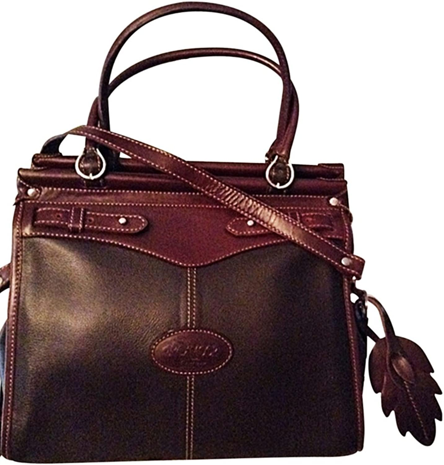 100% Genuine Leather Travel Tote Handbag