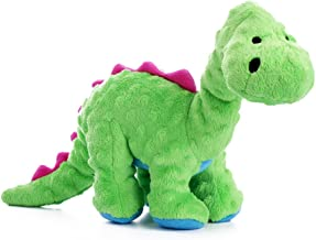 goDog Dinos with Chew Guard Technology Durable Plush Squeaker Dog Toys
