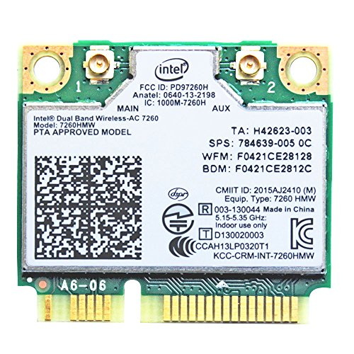 i10 GB Intel Dual Band Wireless-AC 7260 2x2 AC + Bluetooth 4.0 p/n 7260-HMW