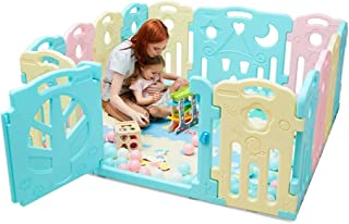 Playpen Baby Play Fence | Baby Safety Fence Children Activity Center Security Game Bed Home Indoor Outdoor (No balls)