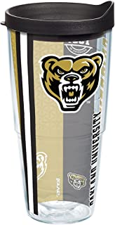Tervis 1229546 Oakland Golden Grizzlies College Pride Tumbler with Wrap and Black Lid 24oz, Clear