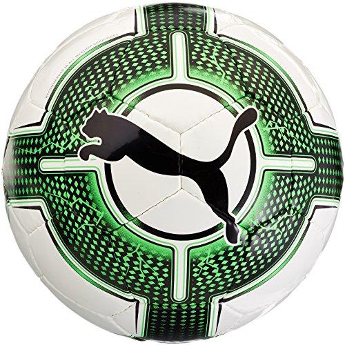 PUMA Evopower 1.3 Futsal FIFA App, Calcio Unisex-Adulto, Bianco-Verde Gecko, Nero, 4