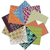 Folded Square Origami – Conjunto de Regalo de Papel para Papiroflexia | 100 Hojas, 15cm Cuadrado | Estampados de Diseño (colección uno)