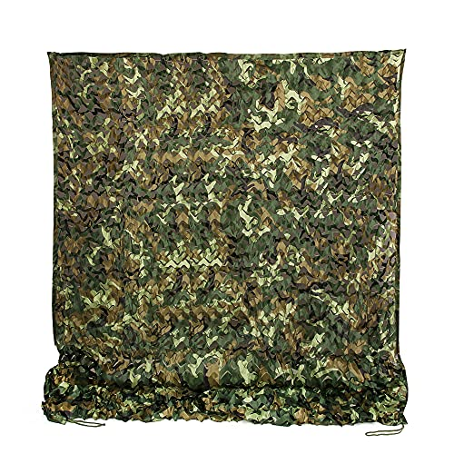 Ginsco 6.5ft x 10ft 2mx3m Woodland Camouflage Netting Desert Camo Net for Sunshade Camping Military Hunting Shooting Blind Watching Hide Party Decorations (6.5x10ft (2Mx3M))