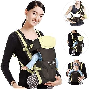 con 4 modos para porta bebe con comodidad,para recien nacido al 30 meses ELENKER Mochila Portabeb/é/ergon/ómica multifuncion transpirable 4 en 1 color caqui