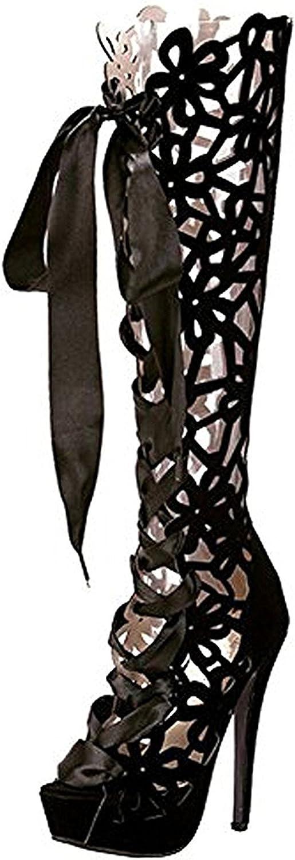 Manuertin Women's High Heel Sexy Lace-up Sandals