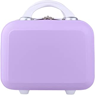 Genda 2Archer Small Cosmetic Suitcase Abs Hard Shell Makeup Luggage Purple