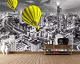 3D Wallpaper Wandbild,Grau moderne Hong Kong City