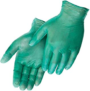 SHOWA 1005 Natural Rubber Glove Medium 5 mils Thick Lightly Powdered 9.5 Length Rolled Cuff Pack of 100