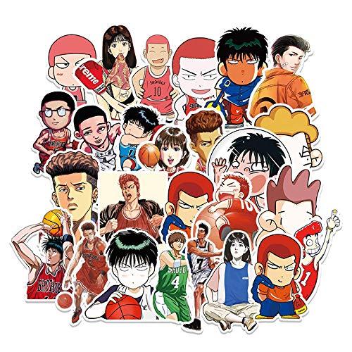 DONGJI Slam Dunk Dibujos Animados Anime Graffiti Impermeable Equipaje portátil decoración Pegatina 57 Piezas