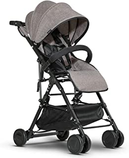 Lightweight Stroller/Portable Travel Aircraft Stroller Single Hand Folding with Brake/Fully Tilted 170 ° can sit or Lie wi...