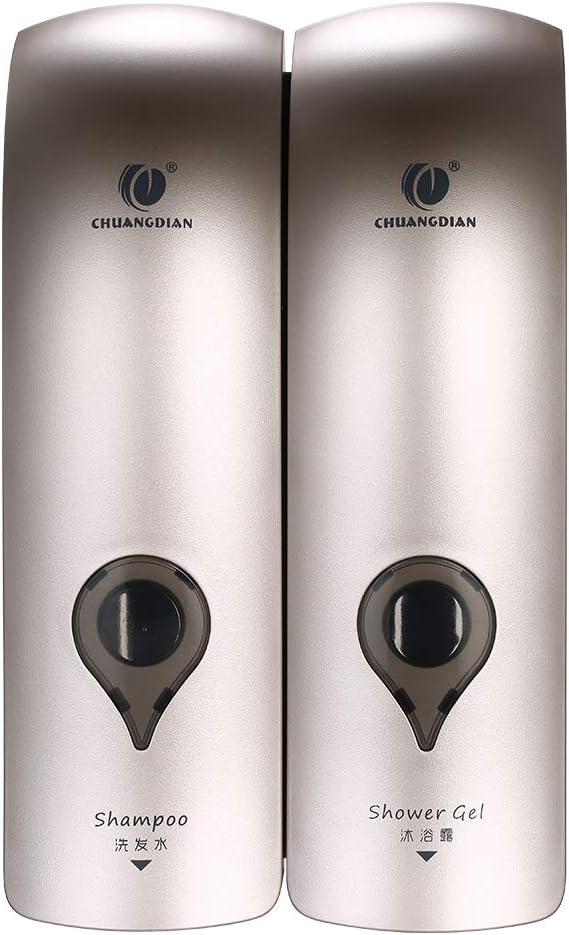 2 x 300ml Dispensador de Jabón de Pared, Ducha, Champú, Loción, Espacio para Baño Cocina Hotel