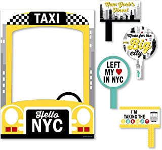 Big Dot of Happiness NYC Cityscape - New York City Party Selfie Photo Booth Picture Frame and Props - Printed on Sturdy Material