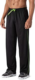 TACVASEN Men's Casual Jogger Athletic Pants Open Bottom Mesh Sweatpants with Pockets