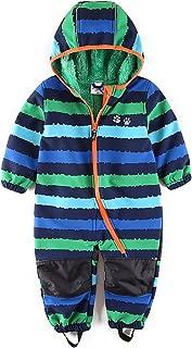 Baby Boy Waterproof Coverall All in One Fleece Lining Pram Muddy Play
