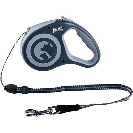 EC.TEAK Retractable Dog Leash, 26 Feet Dog Walking Leash for Medium Large Dogs up to 77lbs, Heavy Duty No Tangle, Large