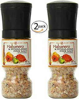 Dean Jacobs Gripper Grinder Habanero and Himalayan Pink Salt Seasoning, 7.2 Ounce - 2 pack