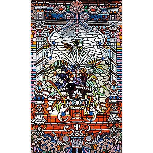 WFYY Vinilo Puerta De Casa Tatuajes De Pared Vidriera, Estilo Étnico Murales De Pared Pegatinas Carteles 95x215Cm