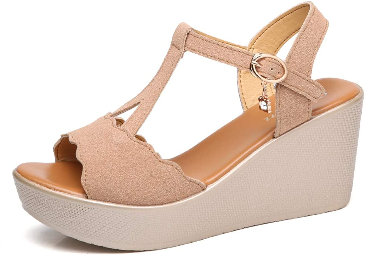 T-JULY Sandals for Women Wedges shoes Woman High Heel Sandals Female Casual shoes Ladies Sandal Sexy Summer