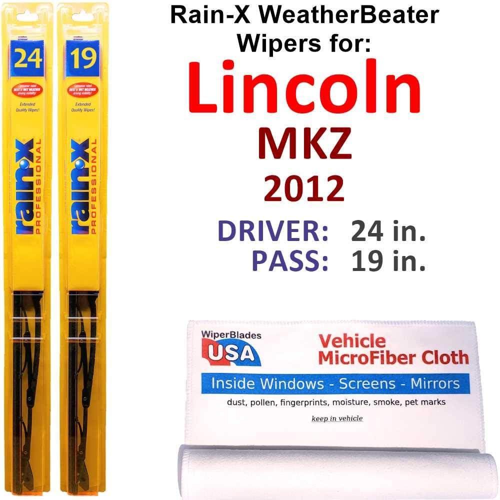 Rapid rise Rain-X Nippon regular agency WeatherBeater Wiper Blades for Rain- 2012 Set Lincoln MKZ