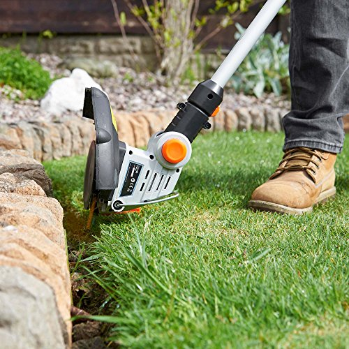 VonHaus Cordless Grass Trimmer/Cutter with 20V MAX Battery, Charger & 12 x Plastic Blades - Includes 180° Adjustable Head, 25cm Cutting Path & Telescopic Handle