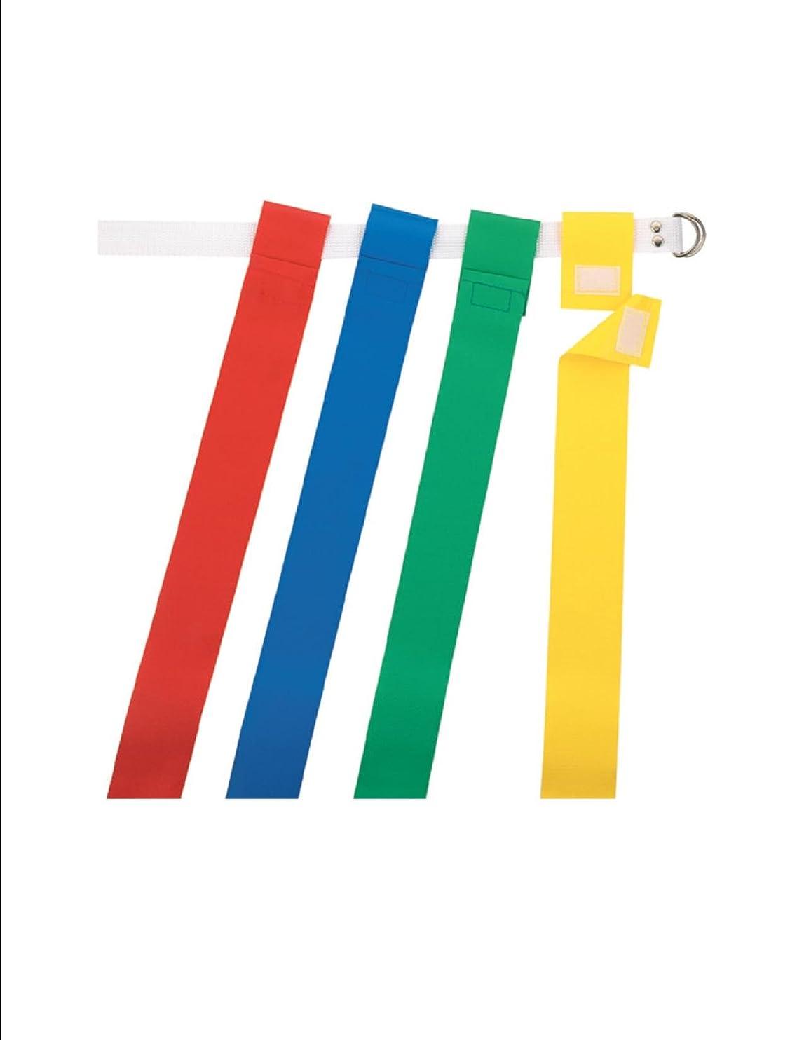 ジョガー思い出す押し下げる新しいMartinダース12?OSFA Flag Football Web Belts、2?Tear Away AttachedフラグBlu -