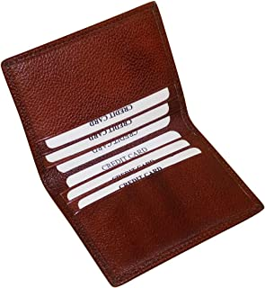 Style98 Leather Pocket Wallet,Money Clipper for Men & Women -Bombay Brown - Small