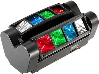 Docooler 90W RGBW 12.06 Kanäle LCD DMX512-Ton aktivierte Auto Lauf Mini Spinne Bühne Beam Licht Headed bewegen Drehbare Effektleuchte mit Signalleitung für Disco KTV Club Party