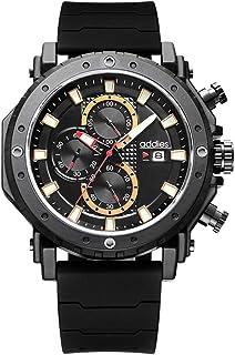 Reloj para Hombre Elegante Casual Analógico Cuarzo Impermeable cronógrafo Reloj Impermeable para Hombre Correa de Caucho F...