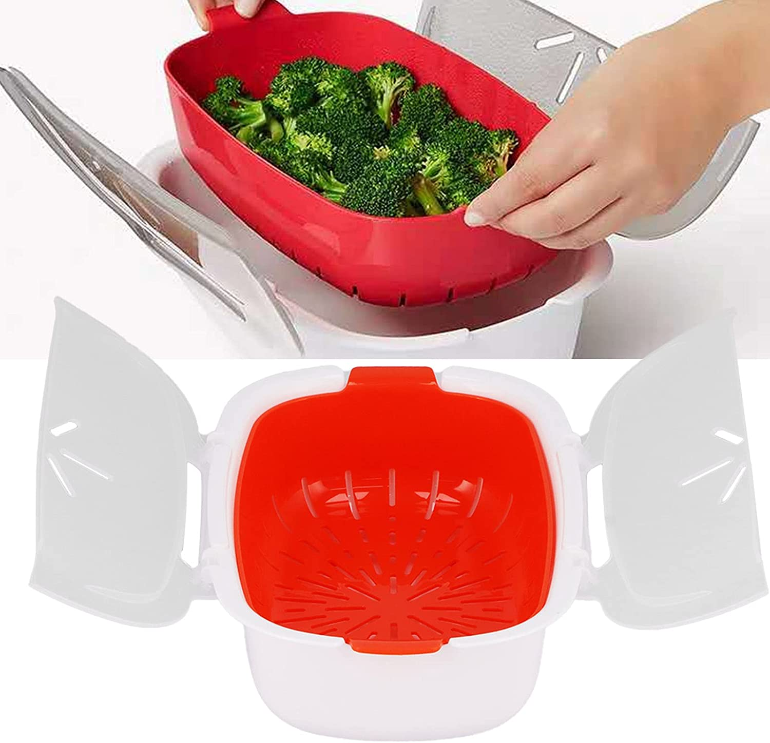 Minneapolis Mall Microwave Rice Cooker PP Double‑lay Material Utensils Cooking Luxury goods