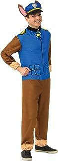 Men's Paw Patrol Adult Chase Costume Jumpsuit