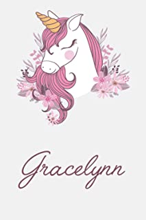 Gracelynn And Unicorn: Great Gifts Notebook for Women, Girls, Wives, Mom, Aunt kids Friends | Fun Spy Games for Holiday | ...