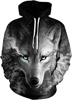 Unisex 3D Digital All Over Print Zip Up Hoodie Casual Pullover Hooded Sweashirt Jacket with Pockets