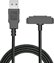 Sonim XP5/XP6/XP7 Charger, Nakedcellphone Brand Black [Rugged Braided] USB Charge/Sync Cable Cord [with Magnetic Contacts] for Sonim XP5700/XP6700/XP7700 Phones